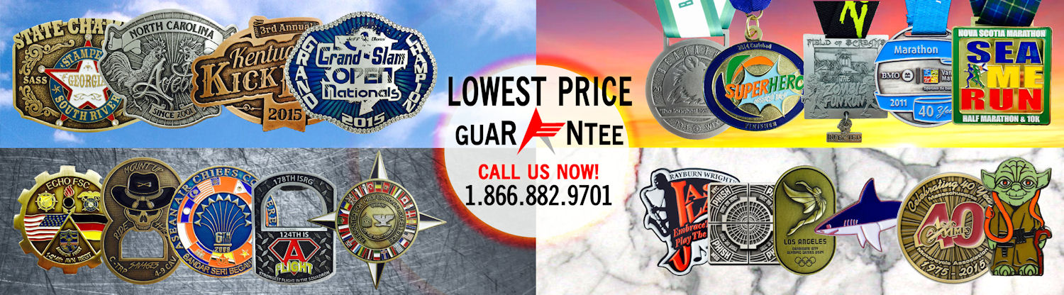 Ace Custom - Largest Online supplier of custom medals, belt buckles, coins and pins