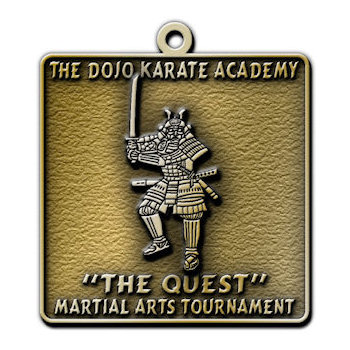 Personalized Martial Arts, Judo, Karate, Tae Kwnodo Medals and Belt Buckles