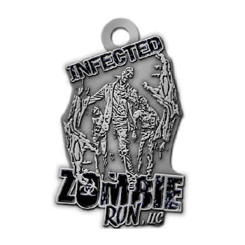 Custom Zombie Run Medals and Ribbons Photos