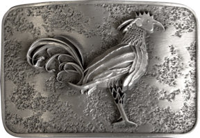 Sample 3d sculpted detailed belt buckle