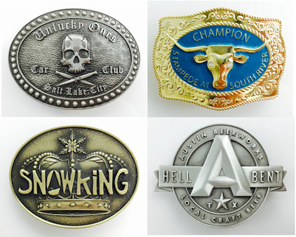 Custom 3d Sculpted Belt Buckles