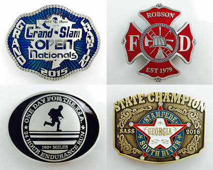 Custom Belt Buckle with Color Added