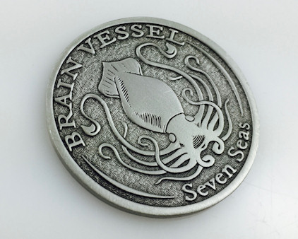 Custom pewter coins - Exquisite surface finish and can be intricately detailed