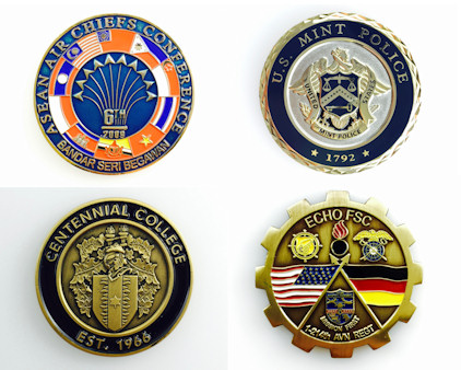 Custom challenge coins - Air Force, Army, Marines, Navy, Coast Guard