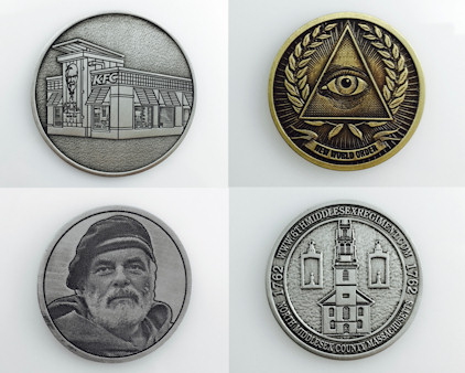 Express coins - Made in USA - Pewter or Zinc in a variety of finishes